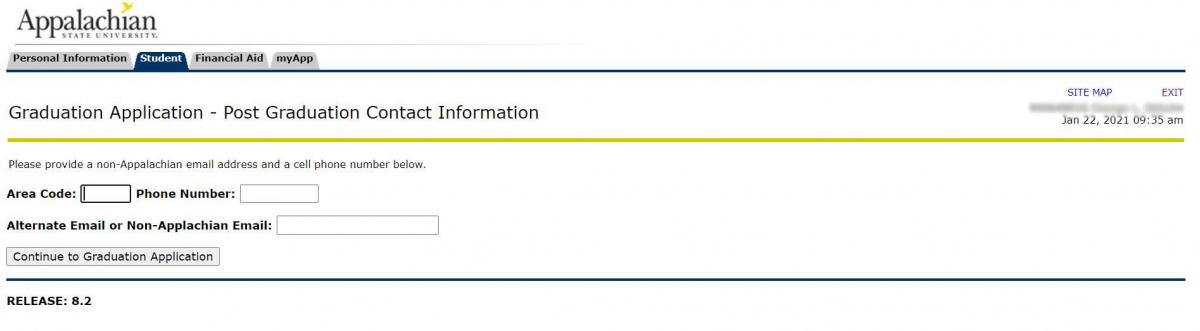 Post Graduation Contact Information