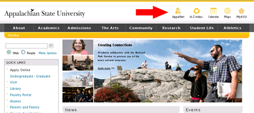 ASU Home page
