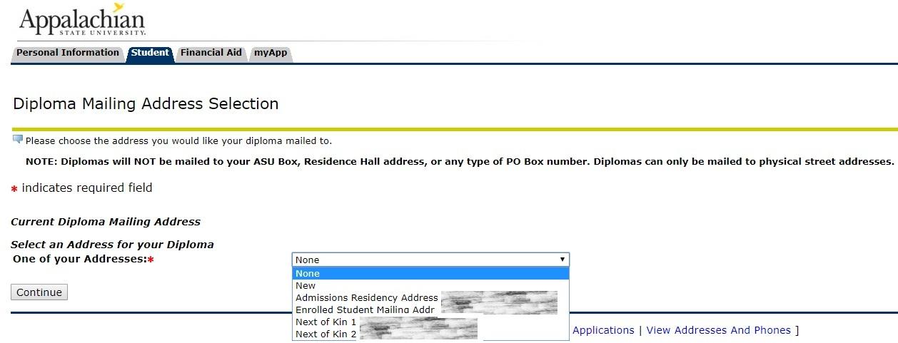 Diploma Address