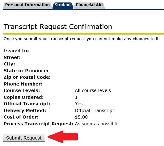 Ordering An Official Transcript Online | Office Of The Registrar